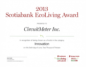 EcoLiving Award Certificate 2013-06