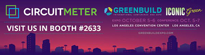 CircuitMeter to Participate in Greenbuild, the World's Largest International Conference and Exposition Dedicated to Green Building.